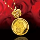 ハローキティ 薔薇の金貨 宝飾純金コインペンダント