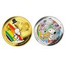 ピーナッツ70周年記念 大型カラー金貨セット・銀貨セット